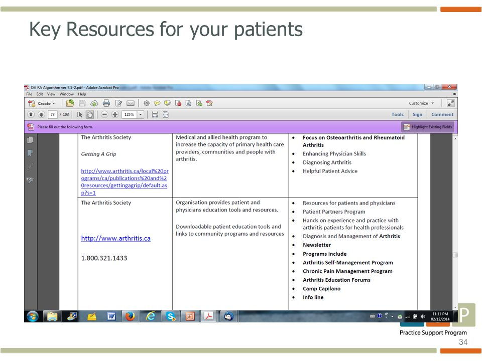 34 Key Resources for your patients