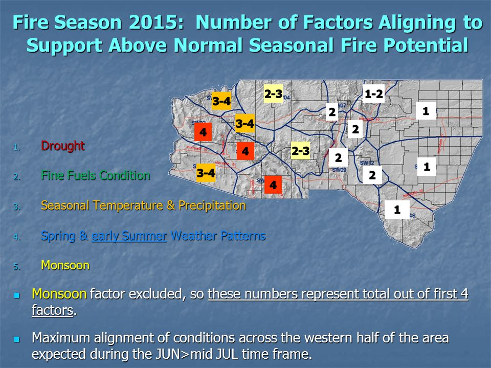 Fire Season 2015: Number of Factors Aligning to Support Above Normal Seasonal Fire Potential 1.