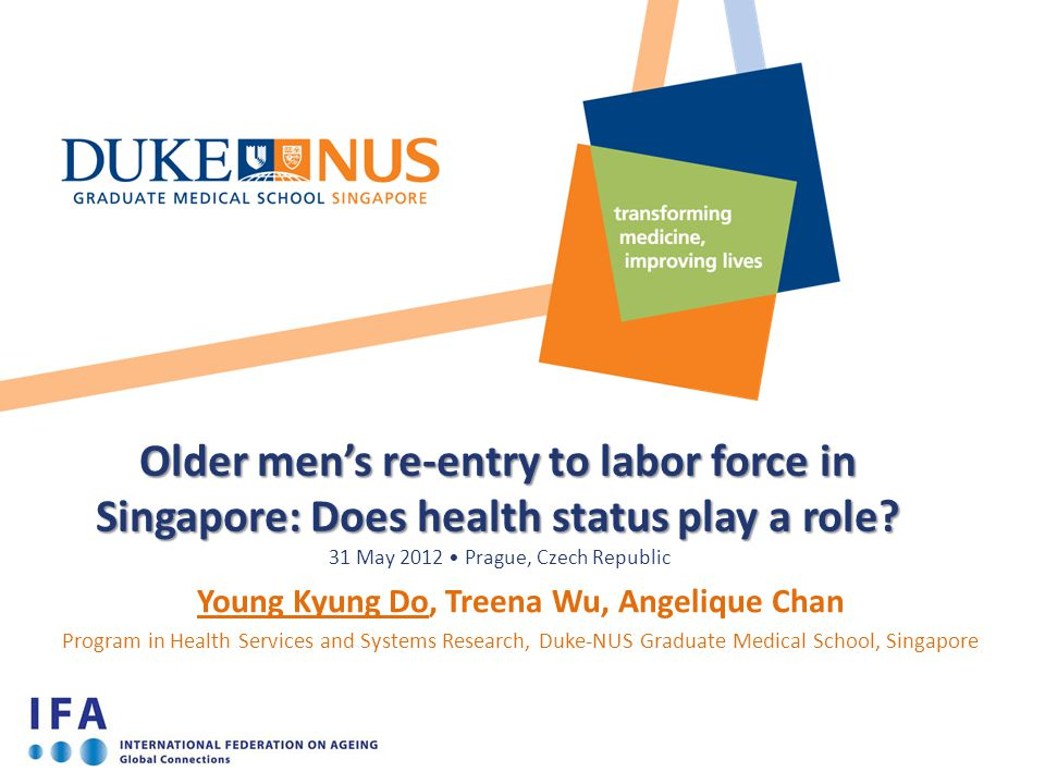 Older men's re-entry to labor force in Singapore: Does health status play a role.