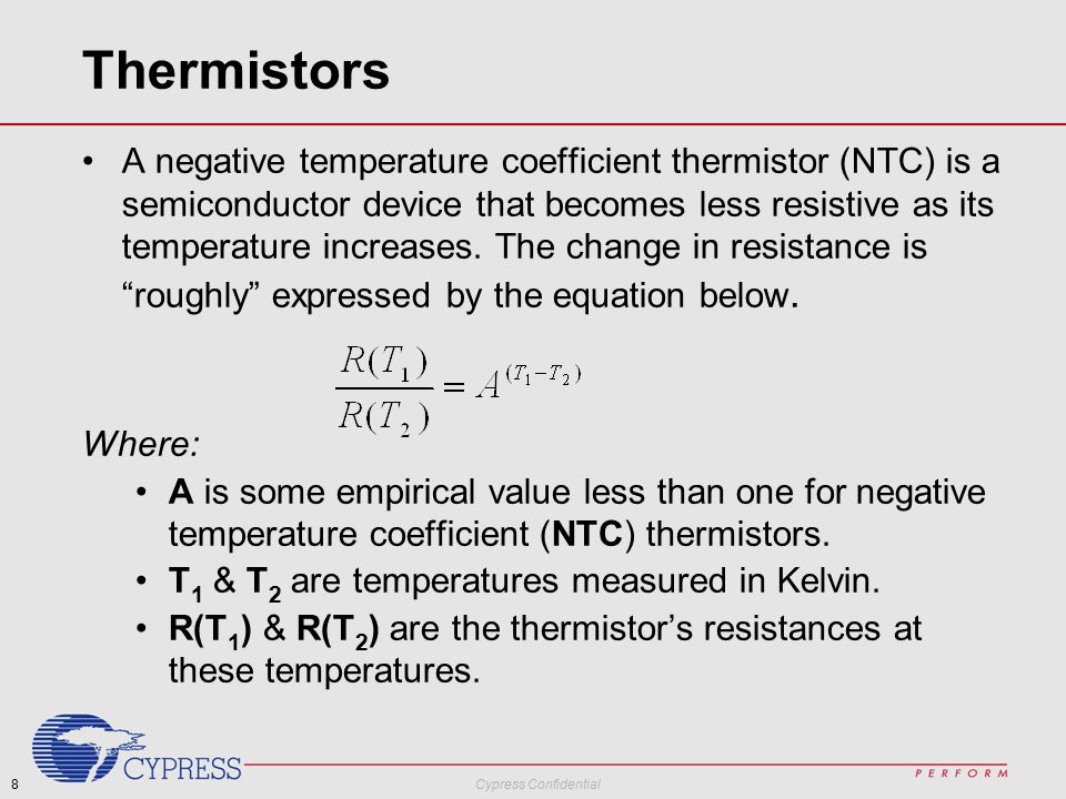 Academic Workshop Lab Measuring Temperature with Thermistors  - ppt