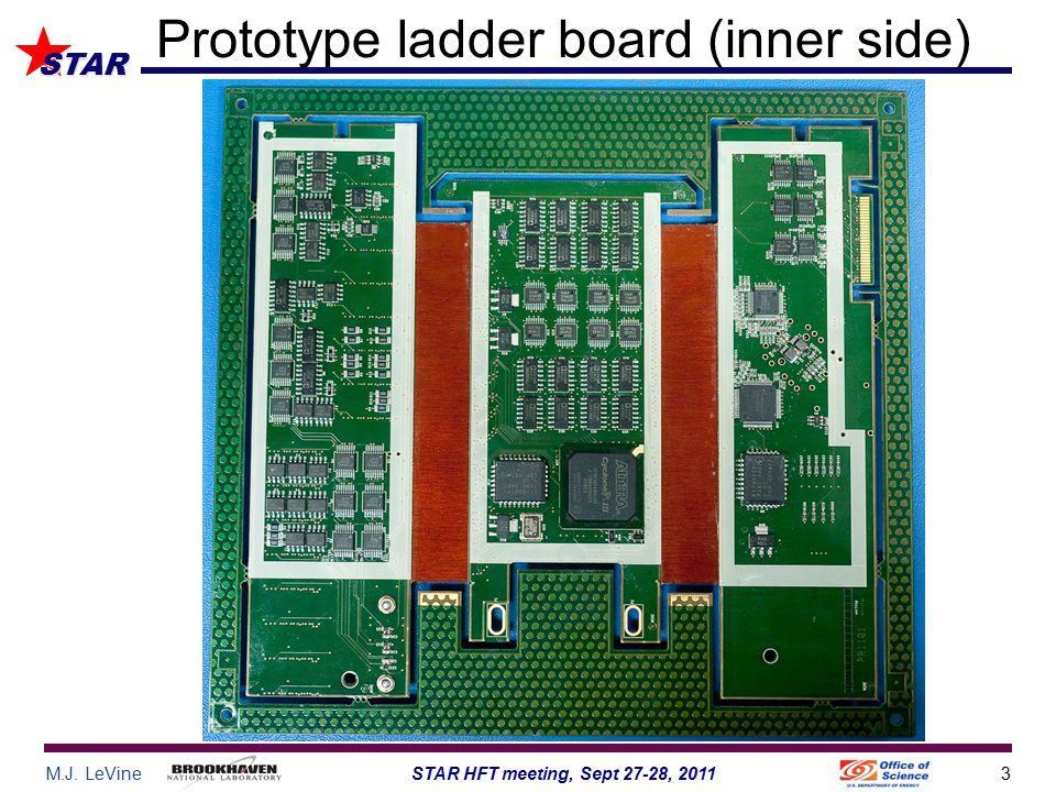 M.J. LeVine3STAR HFT meeting, Sept 27-28, 2011 STAR Prototype ladder board (inner side)