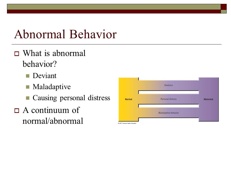 Abnormal Behavior  What is abnormal behavior.
