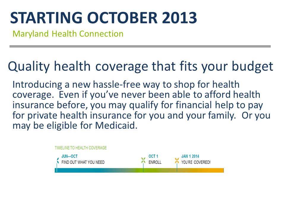 Quality health coverage that fits your budget Introducing a new hassle-free way to shop for health coverage.