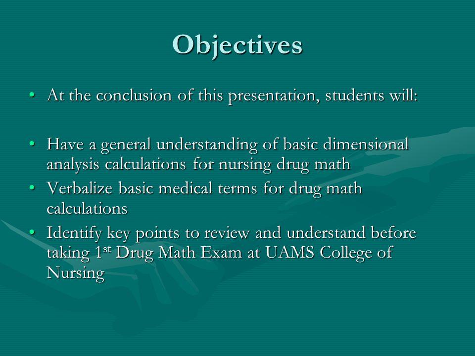 Drug Math For Nurses Dimensional Analysis For Meds Junior