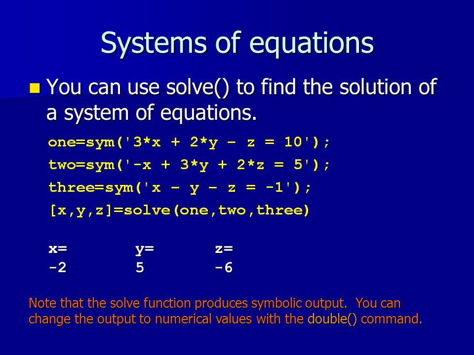 Lecture 16 Symbolic Mathematics Symbolic Mathematics