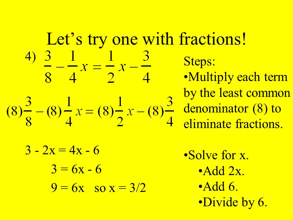 Let's try one with fractions.