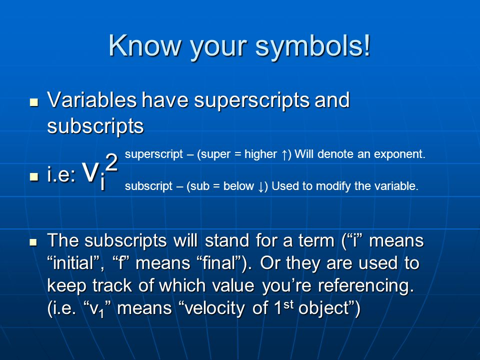 Physics Math Review Aw Yeah Math Know Your Symbols V A T D