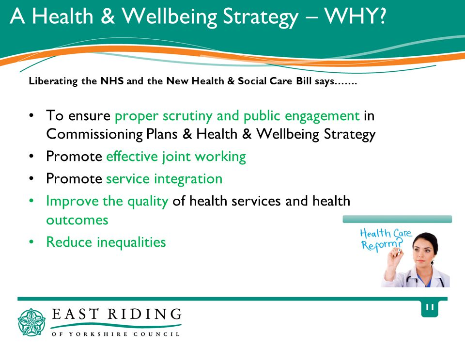 11 A Health & Wellbeing Strategy – WHY.