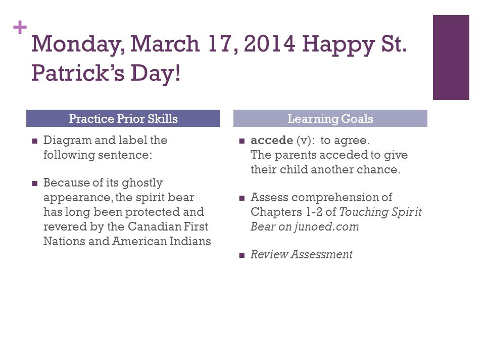 + Monday, March 17, 2014 Happy St. Patrick's Day.
