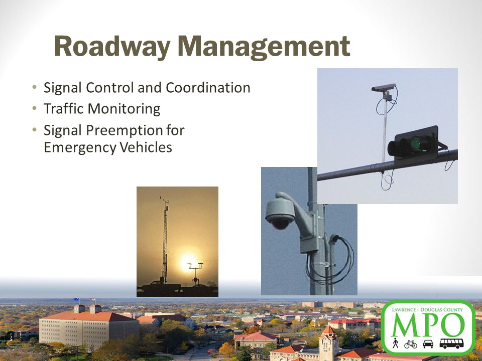Roadway Management Signal Control and Coordination Traffic Monitoring Signal Preemption for Emergency Vehicles