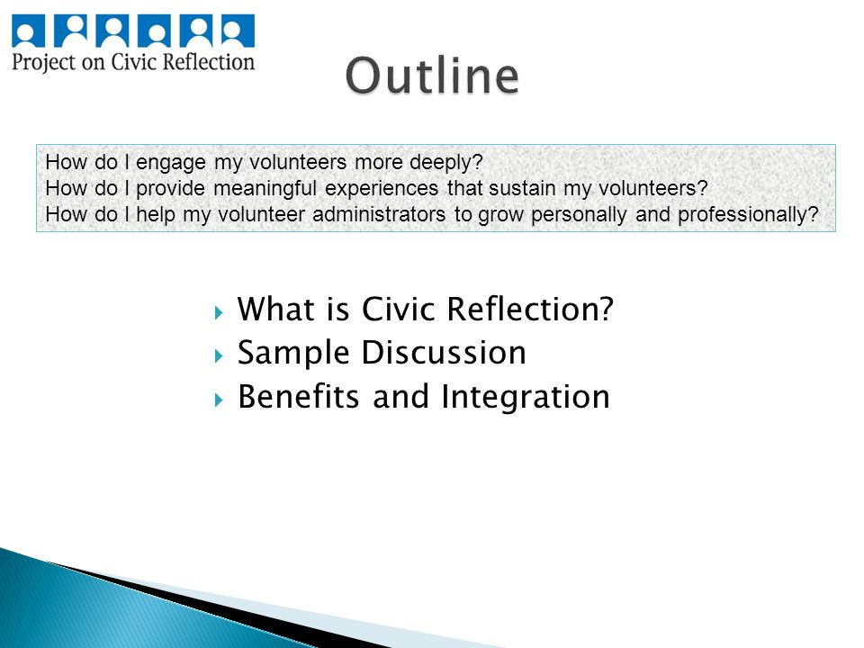  What is Civic Reflection.