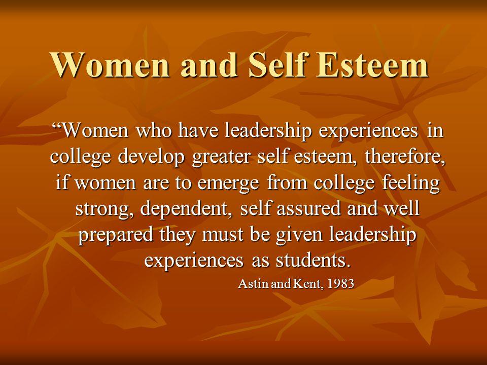 women and self esteem
