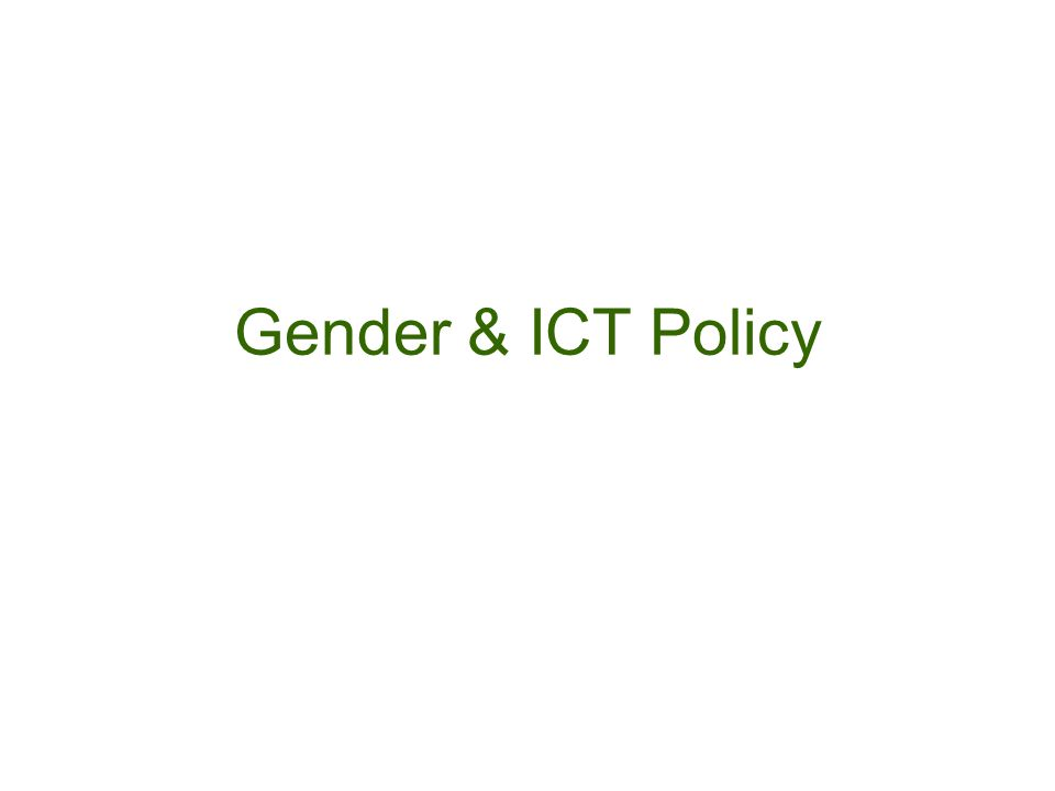 Gender & ICT Policy
