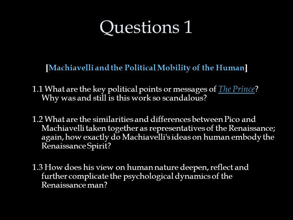 machiavelli human nature