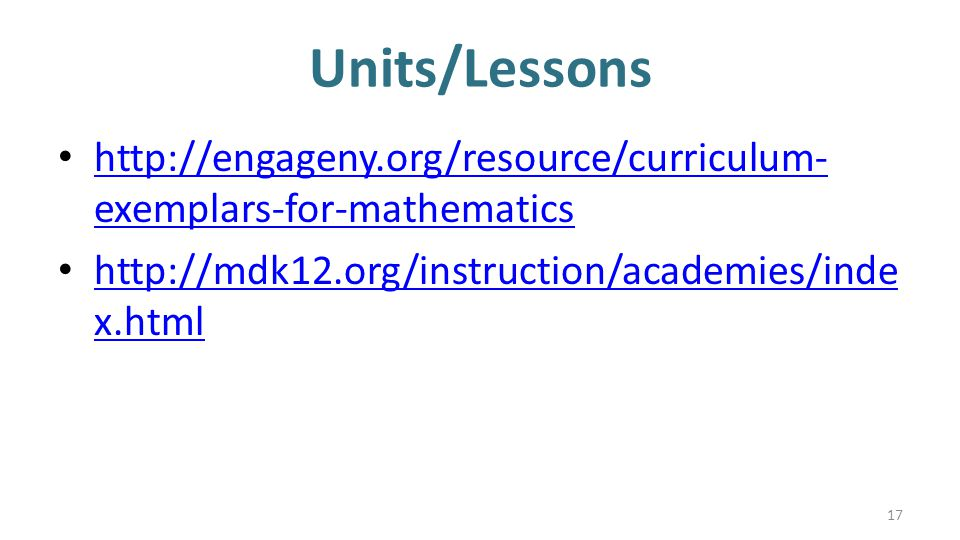 Units/Lessons   exemplars-for-mathematics   exemplars-for-mathematics   x.html   x.html 17