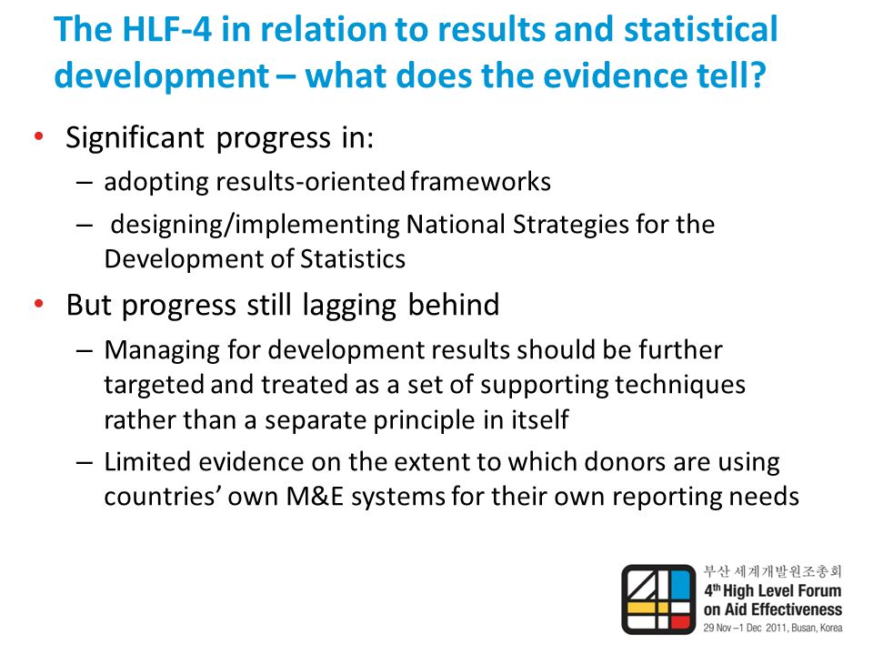 The HLF-4 in relation to results and statistical development – what does the evidence tell.