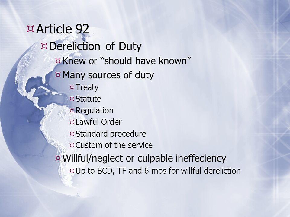 13 Article 92 Dereliction