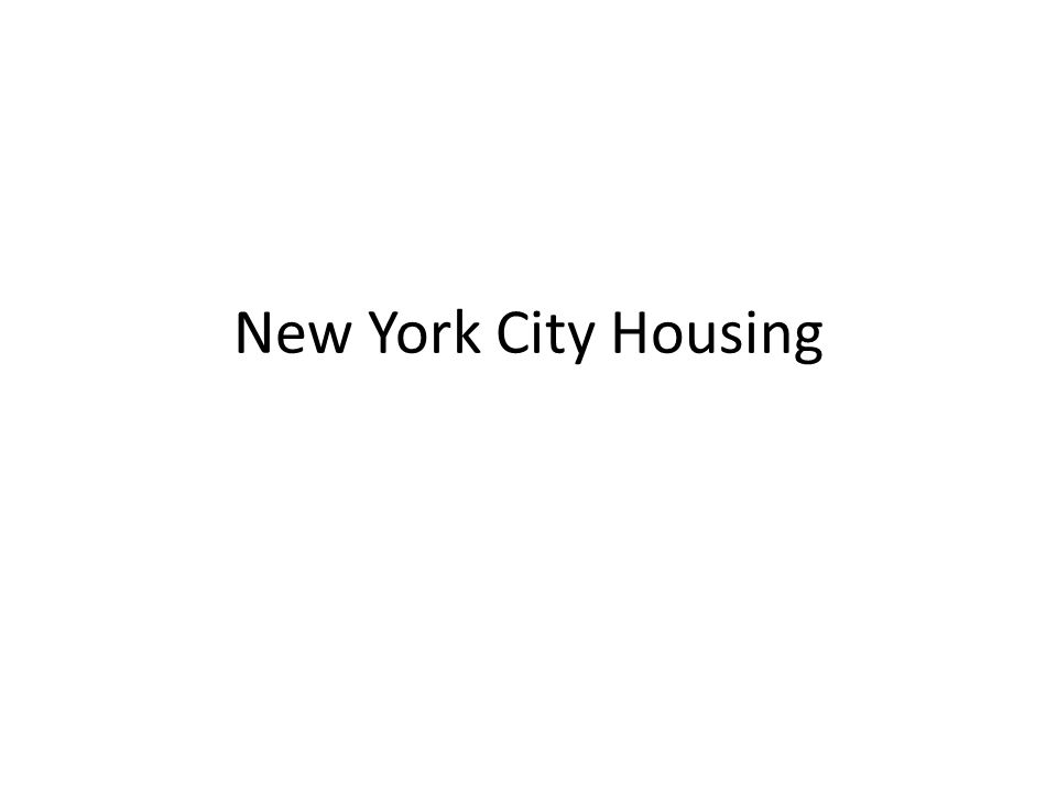 New York City Housing  Department of Homeless Services