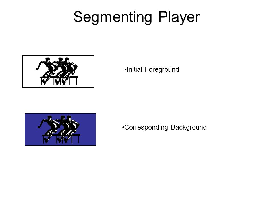 Segmenting Player Initial Foreground Corresponding Background