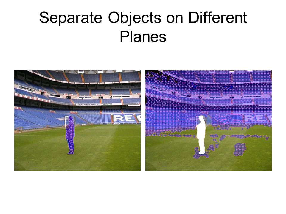 Separate Objects on Different Planes
