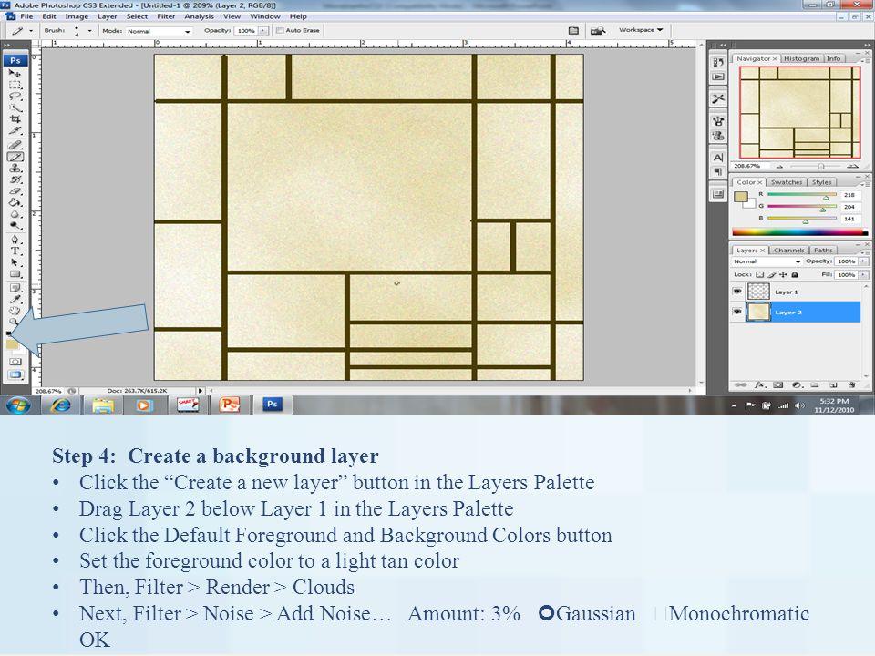 The Mondrian Assignments Use Adobe Photo CS3 to create