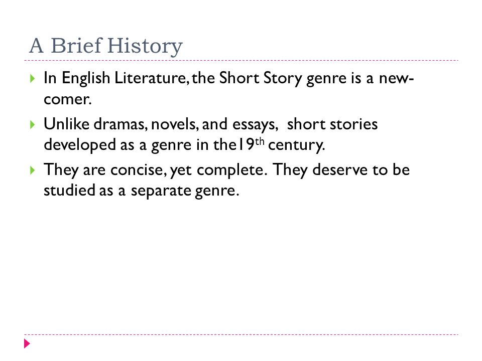 Short Story History And Types A Brief History  In English  A Brief History  In English Literature The Short Story Genre Is A New