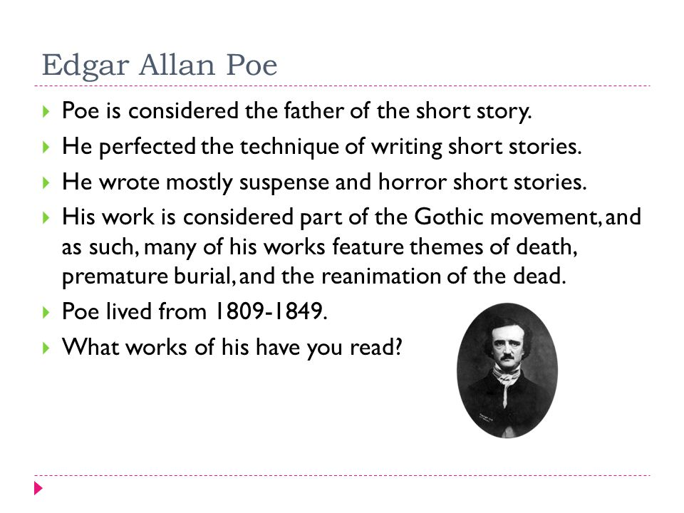 short story history and types a brief history  in english  edgar allan poe  poe is considered the father of the short story high school application essay samples also english essay topics for college students essay for science