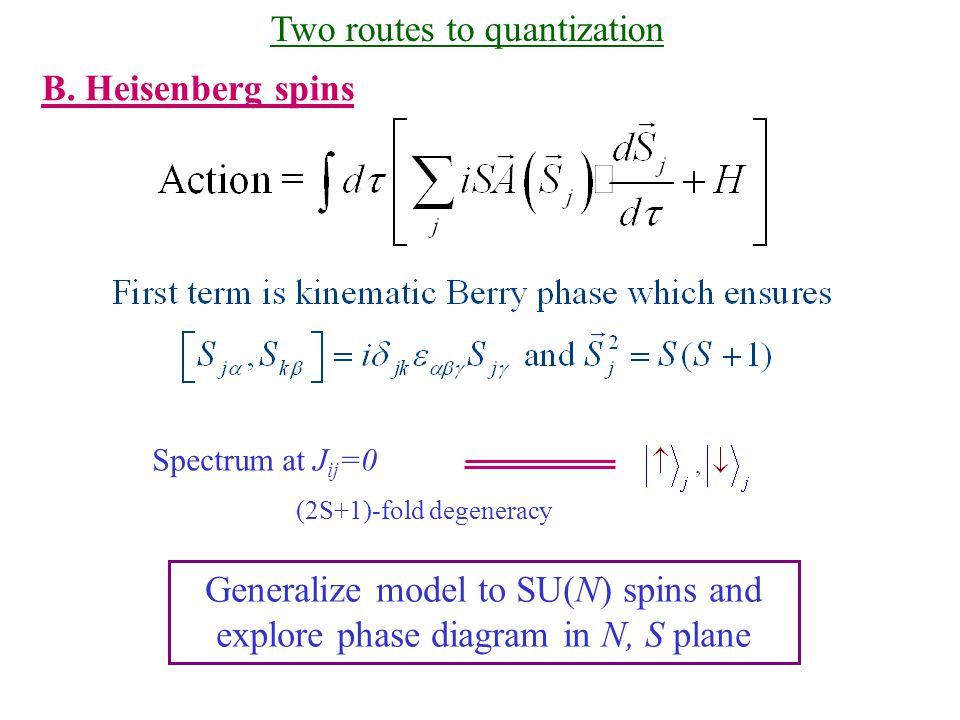 Two routes to quantization B.