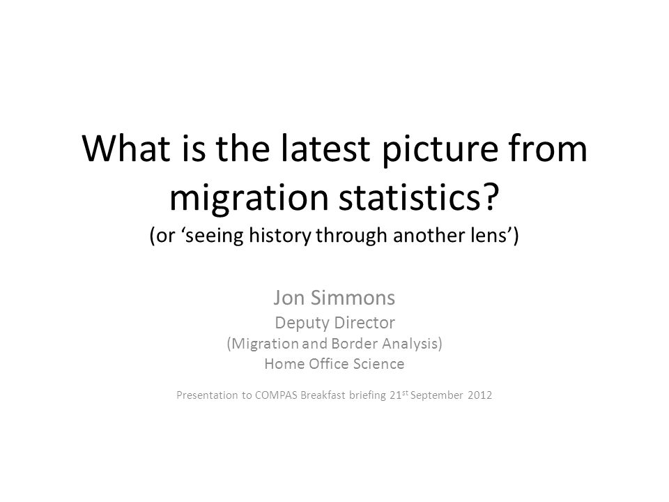 What is the latest picture from migration statistics.
