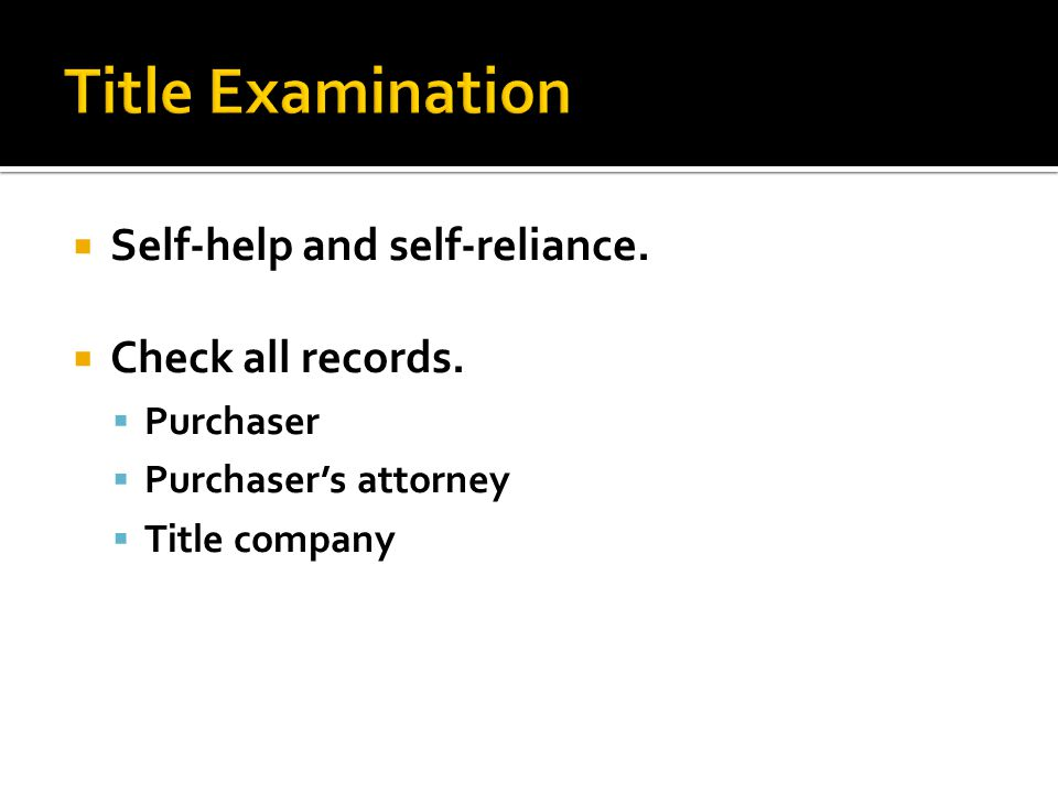  Self-help and self-reliance.  Check all records.