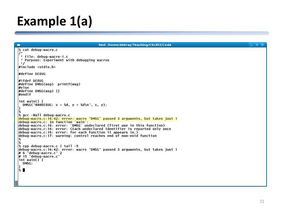 CSc 352 An Introduction to the C Preprocessor Saumya Debray