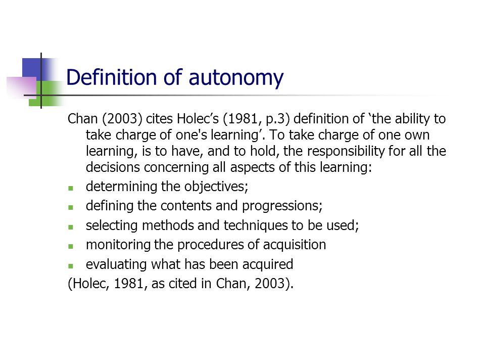 autonomous learning definition
