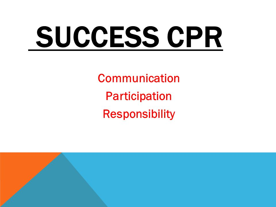 SUCCESS CPR Communication Participation Responsibility