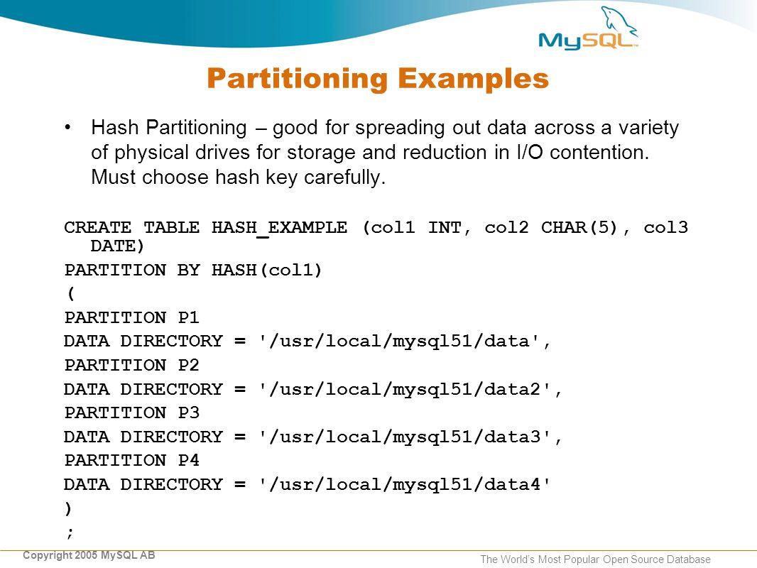 Copyright 2006 MySQL ABThe World's Most Popular Open Source