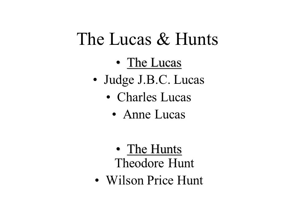 The Lucas & Hunts The LucasThe Lucas Judge J.B.C.