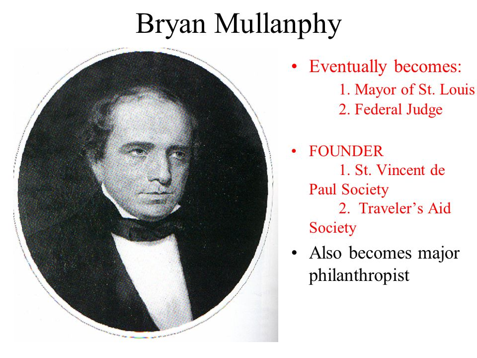 Bryan Mullanphy Eventually becomes: 1. Mayor of St.