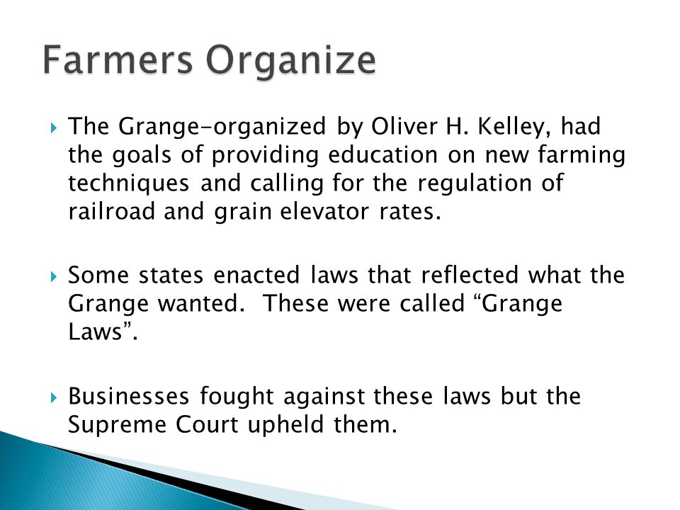  The Grange-organized by Oliver H.