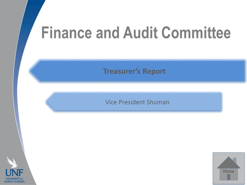 Finance and Audit Committee Home Treasurer's Report Vice President Shuman