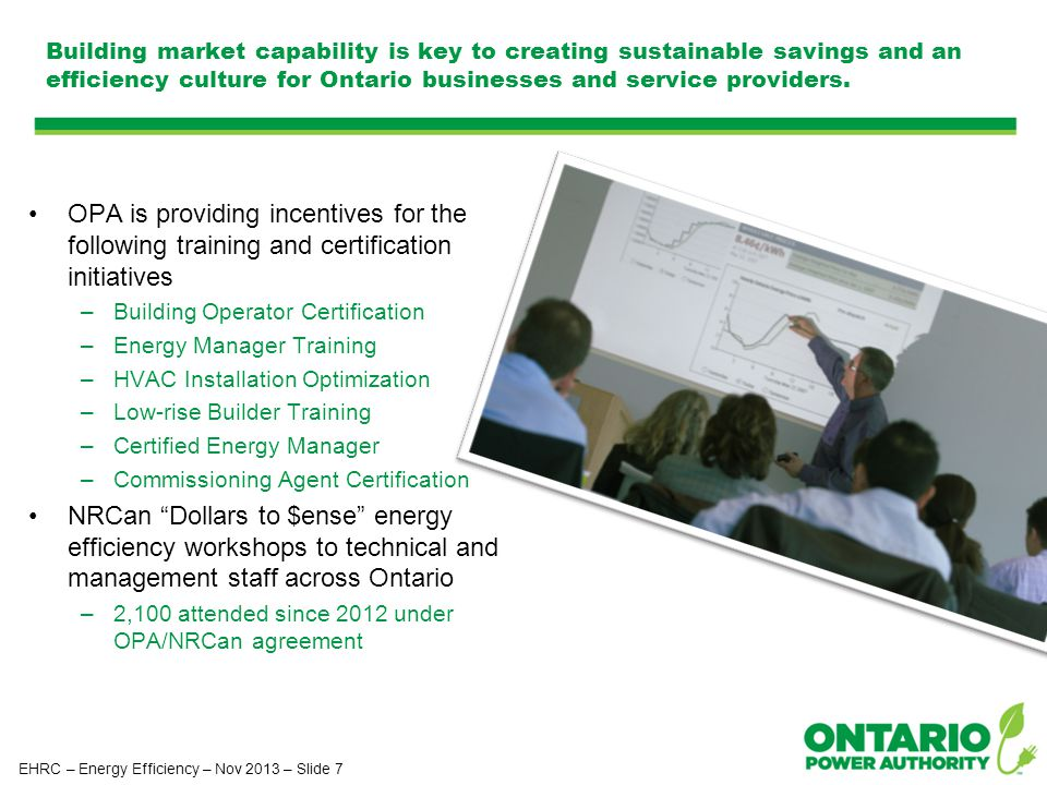 Building market capability is key to creating sustainable savings and an efficiency culture for Ontario businesses and service providers.