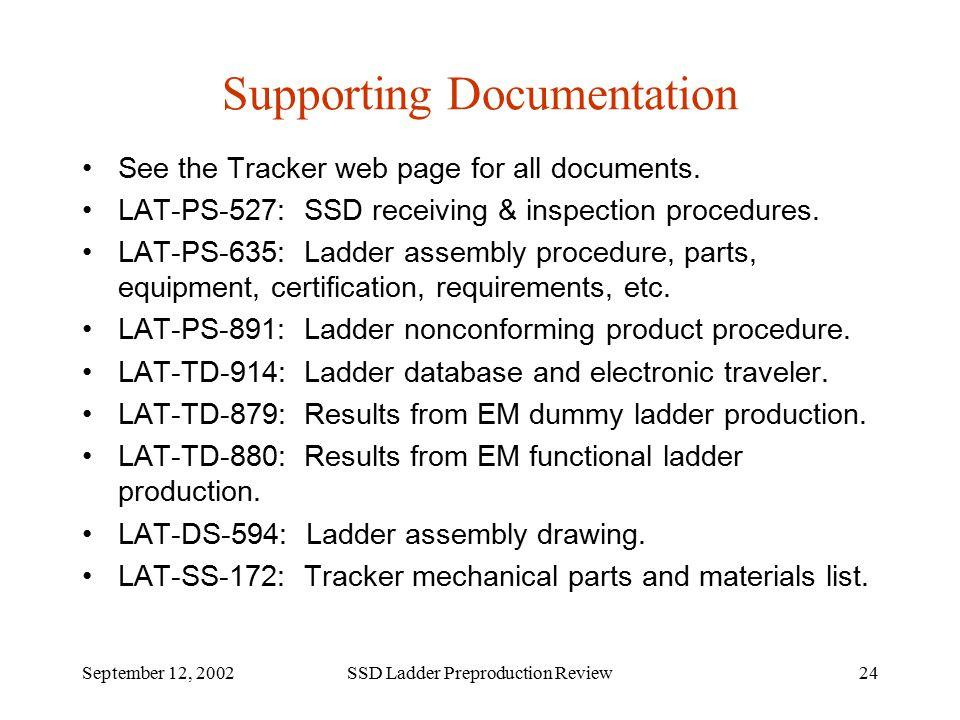 Tracker Ssd Ladder Preproduction Review Alessandro Brez Robert