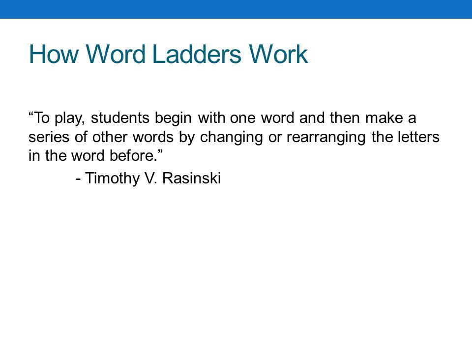 Phonics Word Ladders Amy Wytkewicz How Word Ladders Work To Play