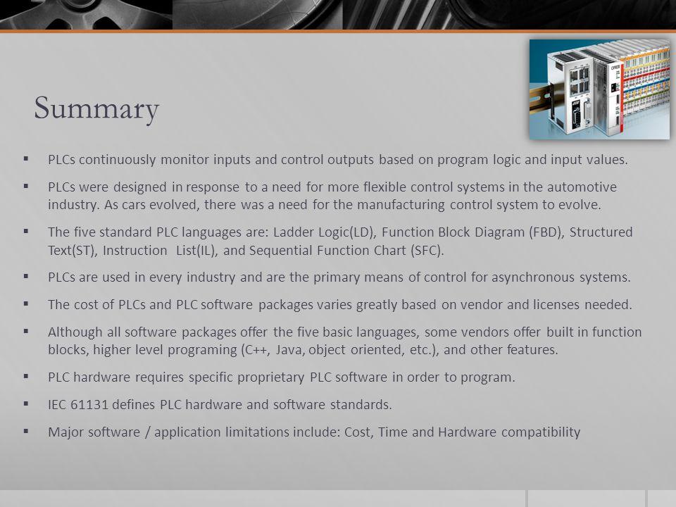 PLC: Software, Applications Jason Cardell November 21, ppt ...