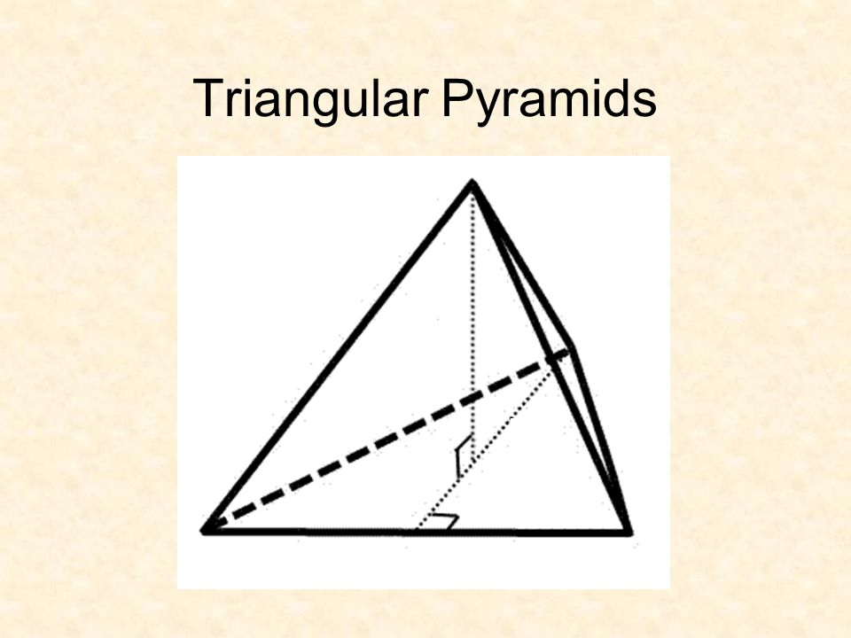 Triangular Pyramids
