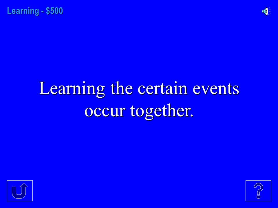 Learning- $400 Learning that occurs but is not apparent until there is an incentive to demonstrate it.
