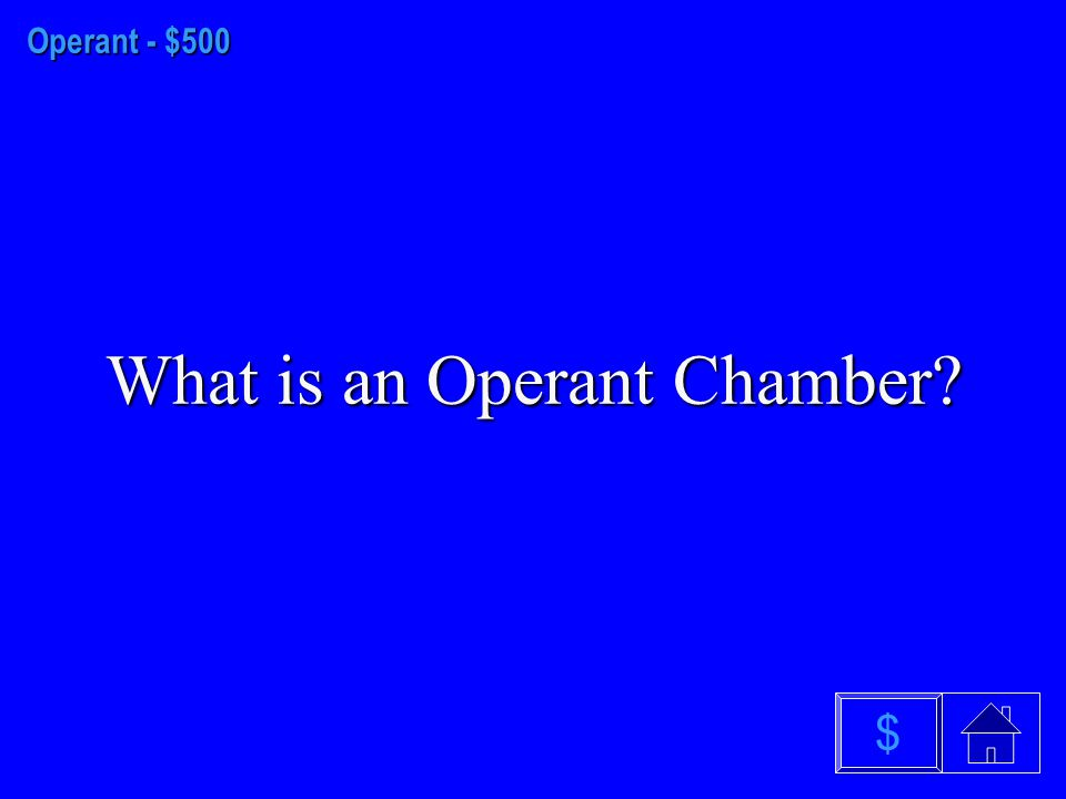 Operant- $400 What is Operant Conditioning $