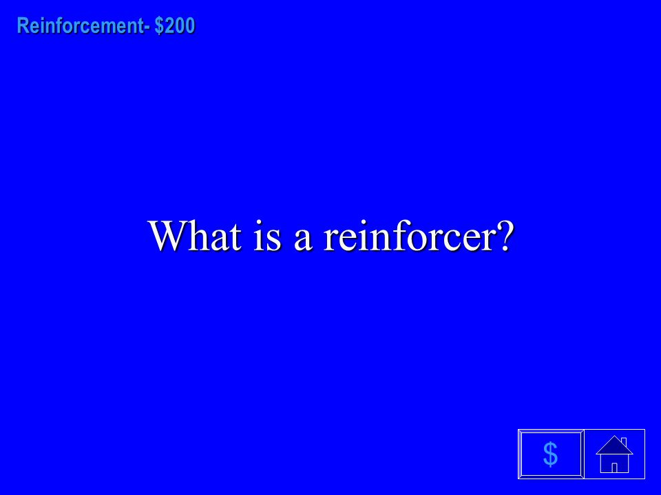 Reinforcement $100 What is the over justification effect $
