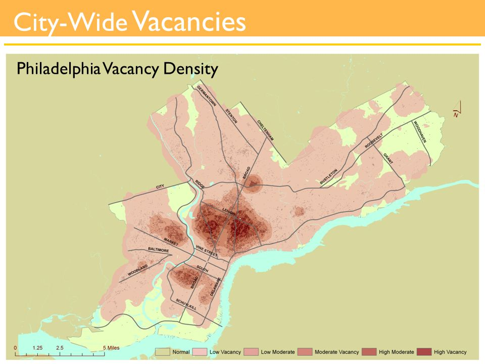 City-Wide Vacancies Philadelphia Vacancy Density