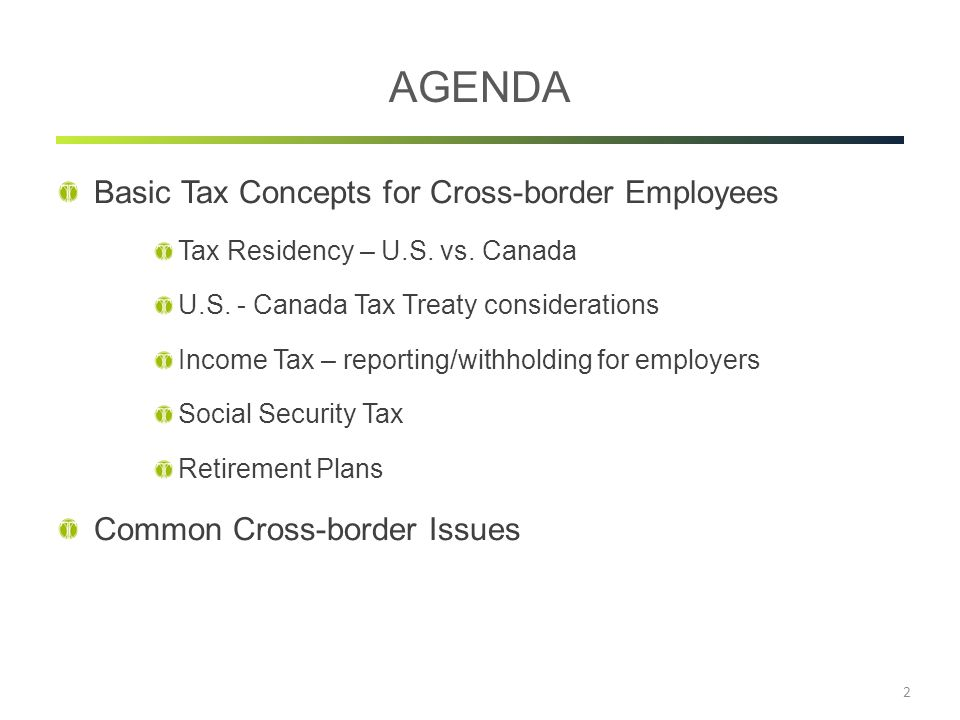 International Tax Concepts For Cross Border Employees Ppt Download