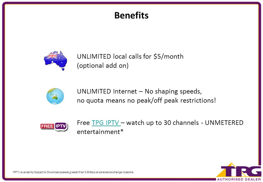 Unlimited ADSL2+ with Home Phone The Product Cost Benefits