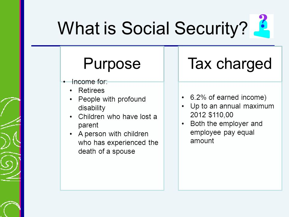 What is Social Security.